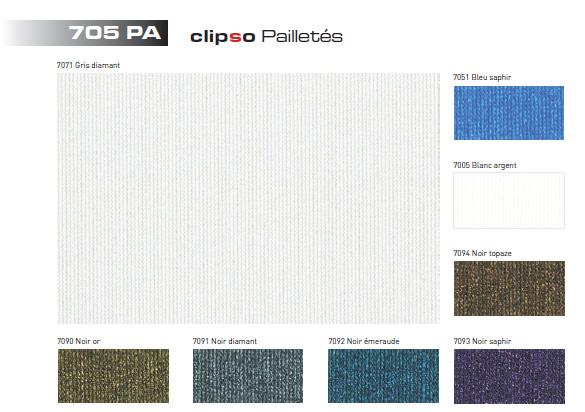 Clipso 705 PA (Блеск) — Особая цветная ткань с добавлением блесток, предназначенная для дизайнерского декорирования.