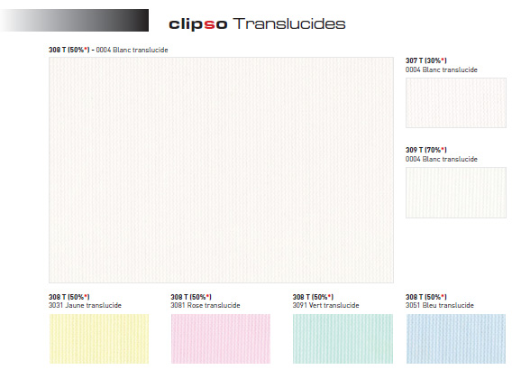 Clipso 507 РТ транспарент (PT – print translucent) — светопрозрачная.
