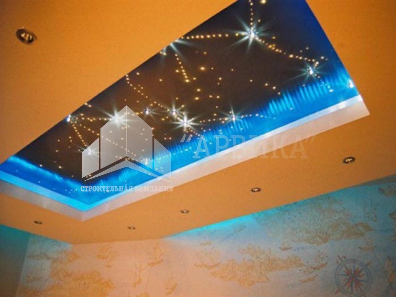 Как сделать звездное небо на потолке из гипсокартона своими руками